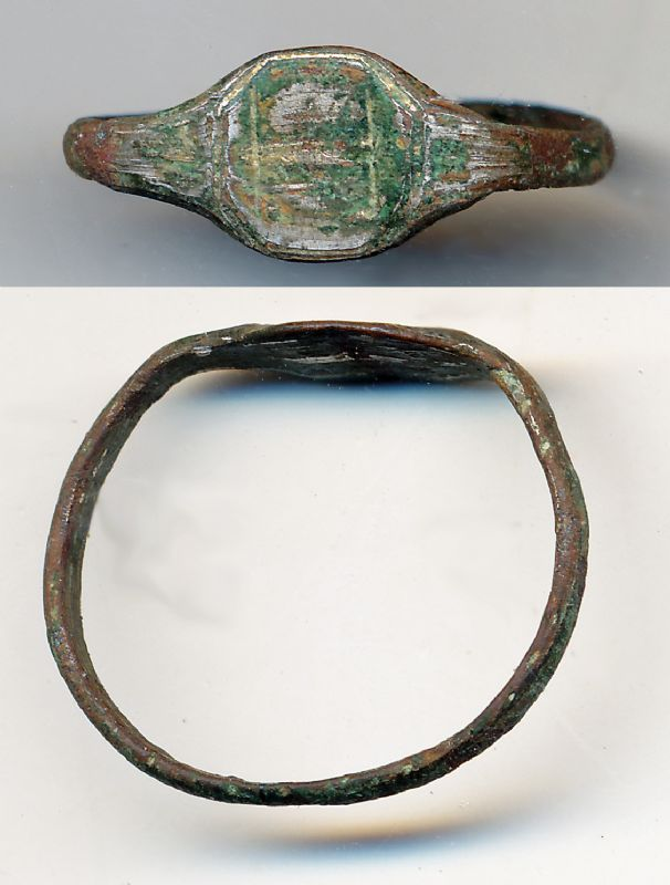 Byzantine Bronze Finger Ring. NP Collectables
